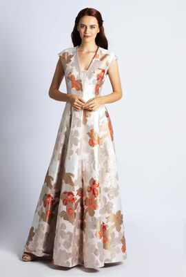 Jacquard flower Dress