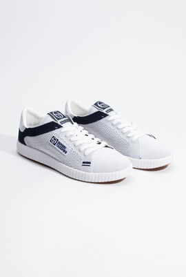 Gran Mac Knit White/Navy Sneakers