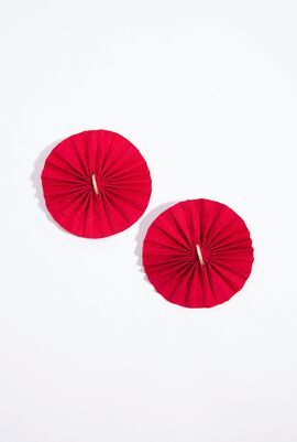 Round Silk fan Earrings