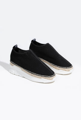 Sporty Espadril Black Sneakers