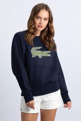 Multi Croc Badge Fleece Sweatshirt