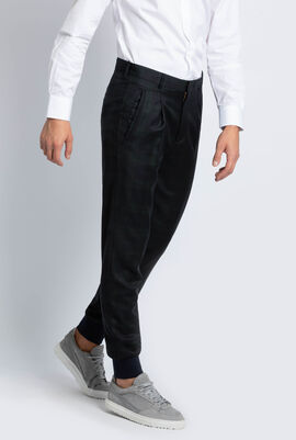 Checked Rib Cuff Trouser