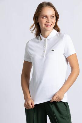 قميص بولو مطبوع بقصة ضيقة Keith Haring
