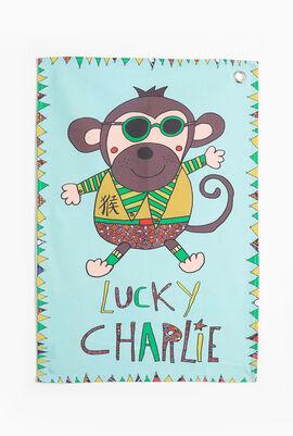 Lucky Charlie Canvas Tea Towel