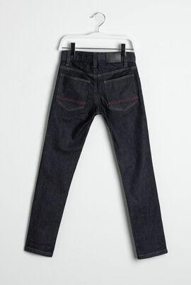 Slim Fit Logo Tape Jeans