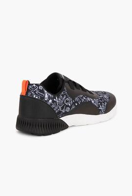 Low top printed sneakers