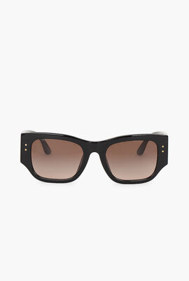 Kira Logo Wide Temple Sunglasses