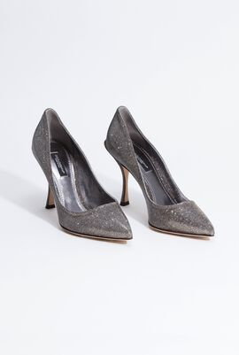 Glittered Pointed Pumps