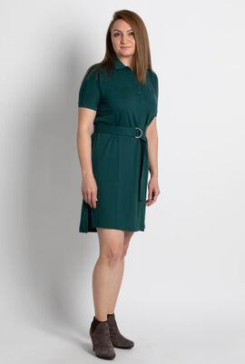 Relaxed Fit Flowing Polo Dress