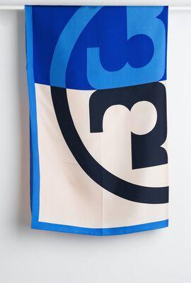 وشاح مربع من الحرير بشعار العلامة التجارية