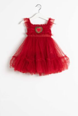 Red Tulle Dress Set
