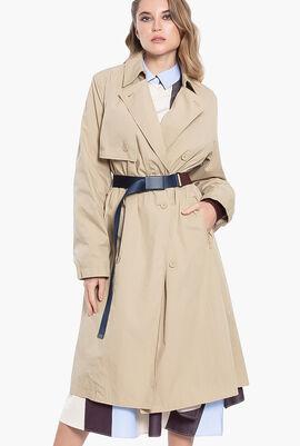 Blouson Contrast Belt Trench Coat