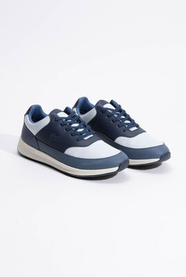 Chaumont Leather and Textile Navy Sneaker