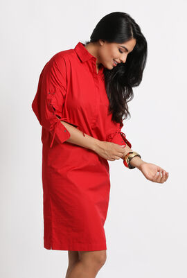 Osanna Drawstring Shirt Dress