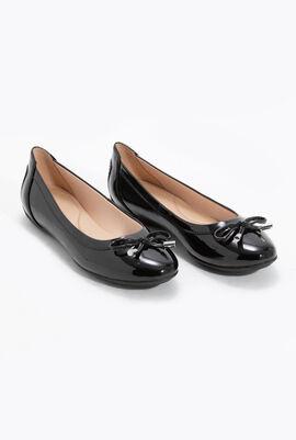 حذاء باليه مسطح من الجلد الطبيعي Charlene B