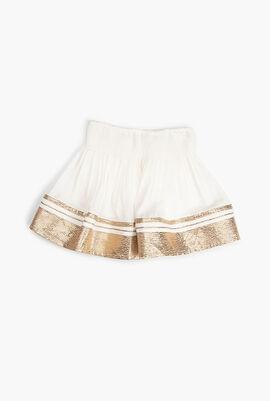 Contrast Trim Skirt