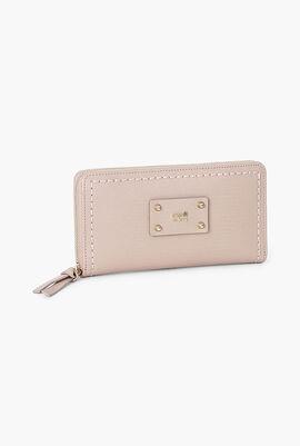 Dhalia Leather Long Zip Around Wallet