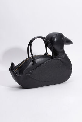 Pebbled Grain Duck Icon Tote Bag