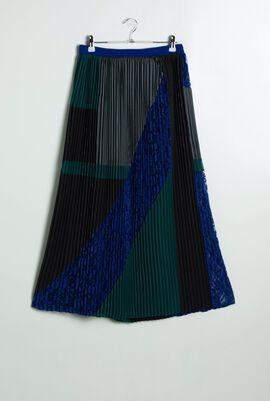 Vik Pleated Patchwork Skirt