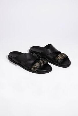 Leather Slide Sandals