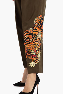 Straight Fit with Tiger Embroidery