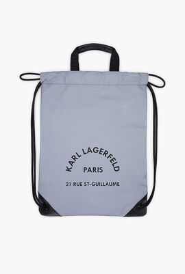Rue St Guillaume Reflective Flat Backpack