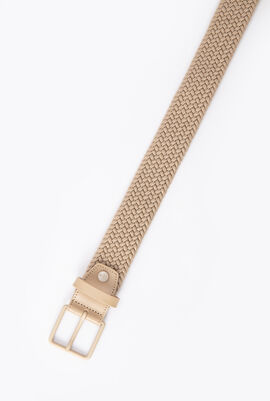 Lacoste Engraved Tongue Buckle Elasticised Braid Belt