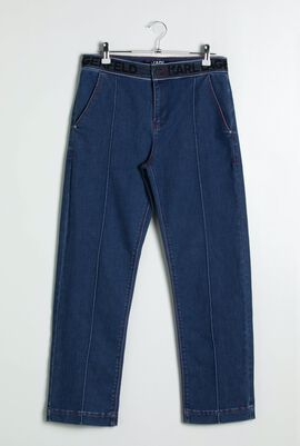 Tailored Denim With Pintuck