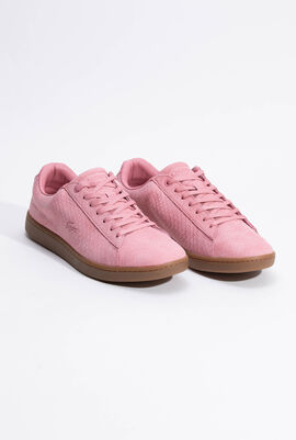 Carnaby Evo Embossed Leather Pink Sneaker