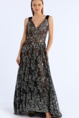 Sequenced Net Design Dress