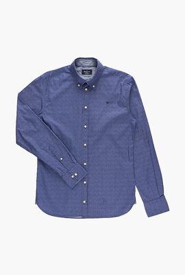 Mini Flower Print Long Sleeve Shirt