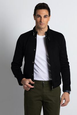 Stand-up Collar Black Jacket