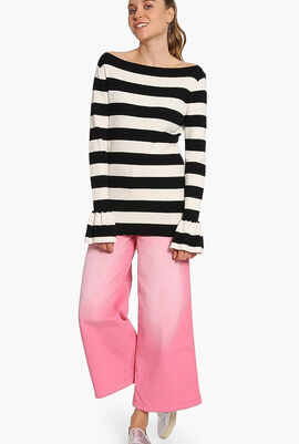 Ruffled-Cuff Sweater