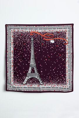 Tour Eiffel Mistletoe Silk Scarf