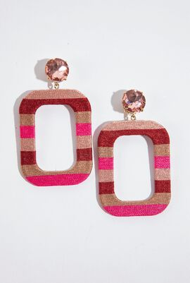 Margot Stripes Clip Earrings