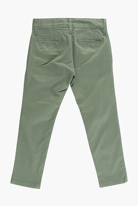 Slim Solid Chino Pants