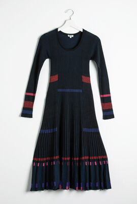 Pleated Rib Dress