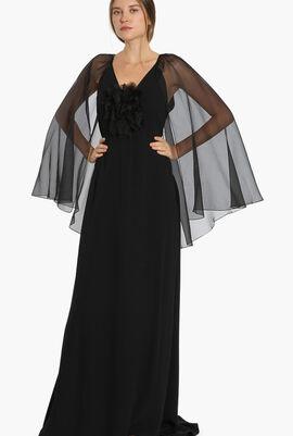 Ingie Long Cape Dress