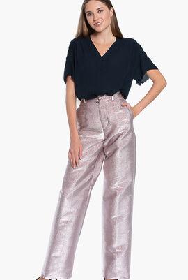 Glossy Straight Pants