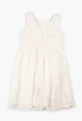 Ivory Dress with Tulle And Lace Details