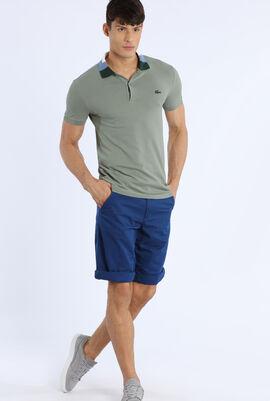 Slim Fit Colourblock Collar Polo Shirt