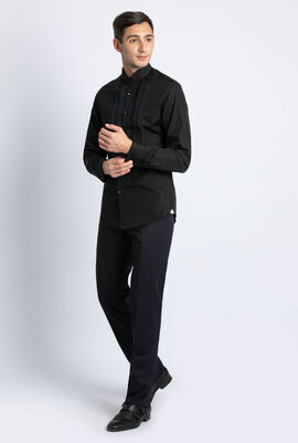Pleated Long Sleeve Shirt