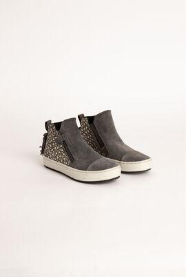 Kalispera Heart Print Ankle Boots