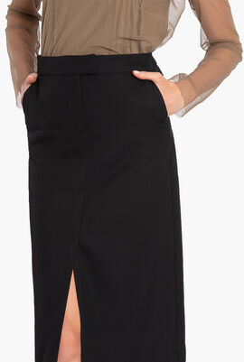 Karl X Carine Long Wool Skirt