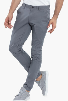 Skinny Fit Solid Chino Pants