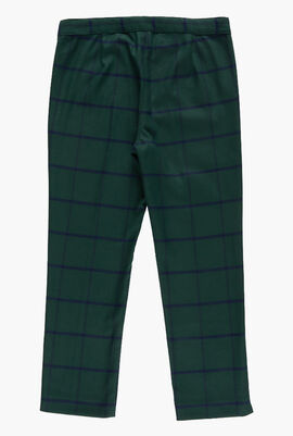 Oversized Check Trousers