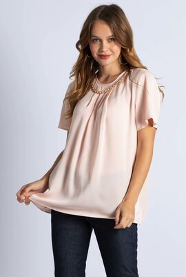 Chain Neck Blouse