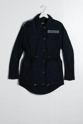 Cotton Twill Safari Jacket