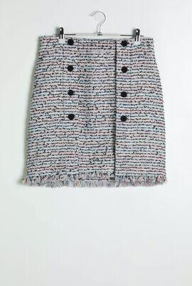 Light Blue Boucle Skirt