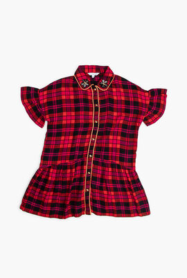 Checked Pattern Dress